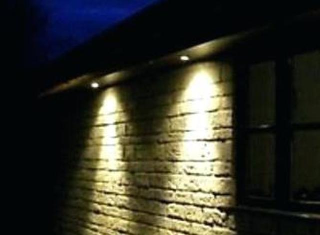 Installing Outdoor Floodlights under Eaves